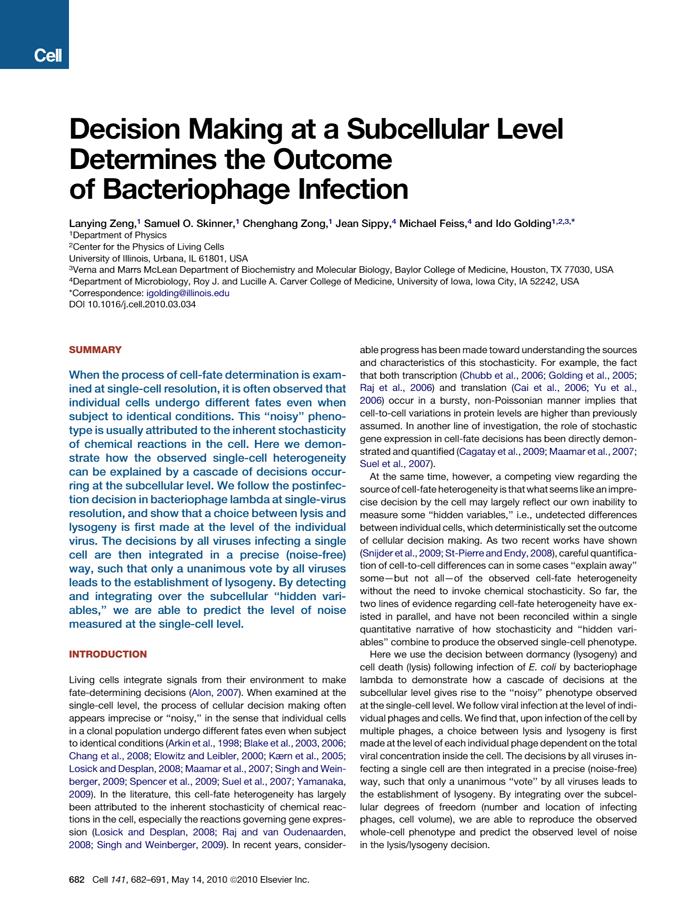 Zeng et al., Cell 2010 [PDF]