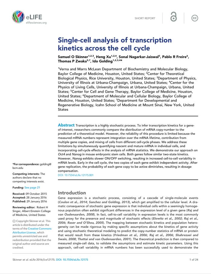Skinner et al., eLife 2016 [PDF]