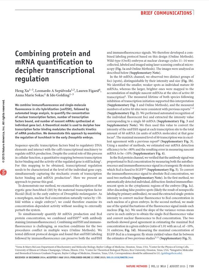 Xu et al., Nat. Methods 2015 [PDF]