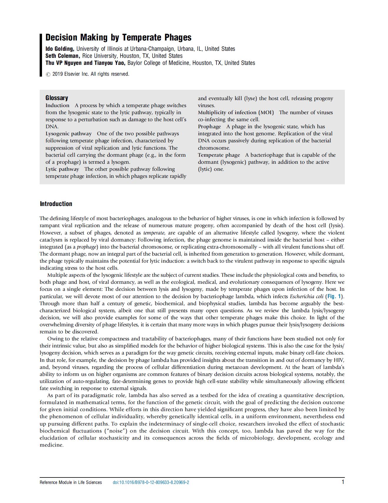 Golding et al., Encycl. Virol. 2019 [PDF]